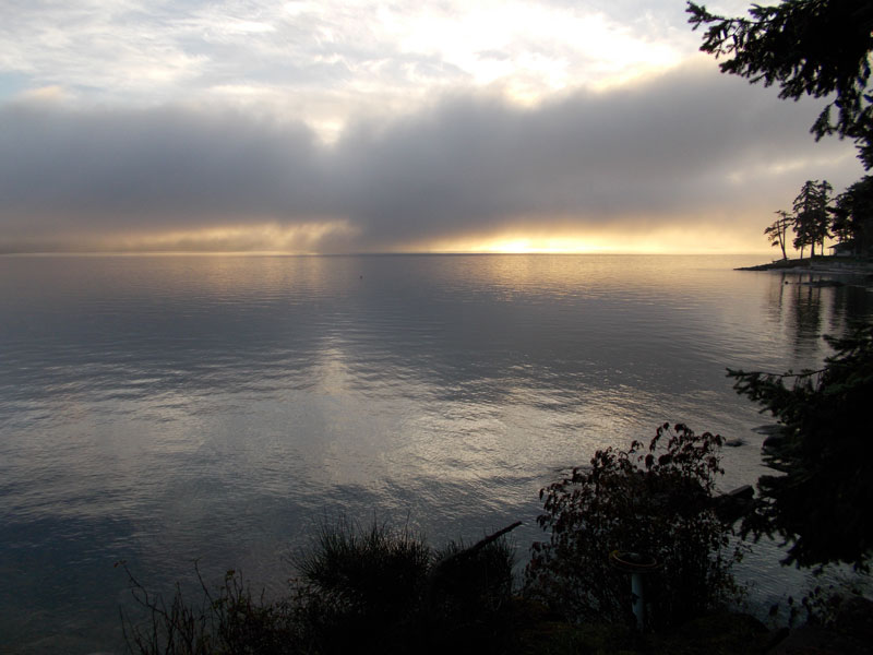 Gulf Island Alliance: sunrise over Reid and Galiano